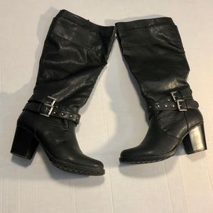 Sonoma faux leather moto boot black 6.5